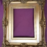 Gilded frame after restoration. Unfortunately, I do not have a before version of this frame.